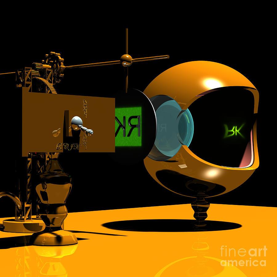 Anatomy Digital Art - Mechanical Oculist Green by Russell Kightley
