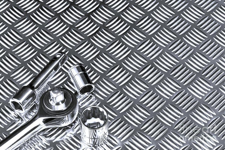 Mechanical Socket Background Photograph by Richard Thomas