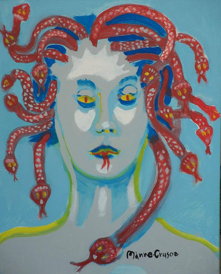 Medusa Painting - Med 2 by Jay Manne-Crusoe