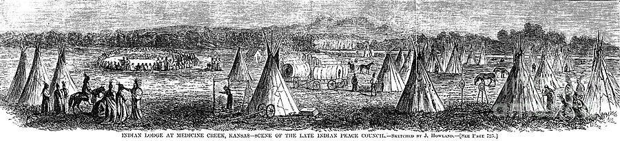 1867 Photograph - Medicine Lodge Creek, 1867 by Granger