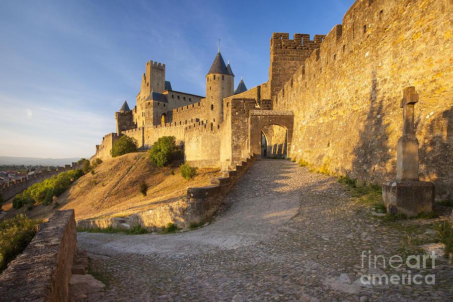 Architecture Photograph - Medieval Carcassonne by Brian Jannsen