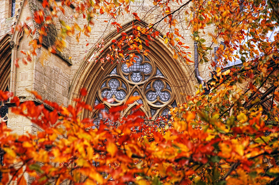 Southwell Minster Photograph - Medieval Firewall Today by Duncan Nelson