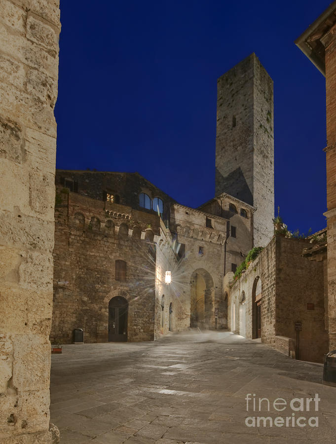 Ancient Photograph - Medieval Street At Twilight by Rob Tilley