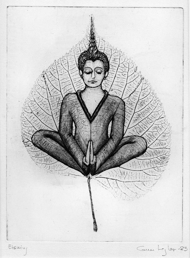 Meditation Drawing By Gun Legler