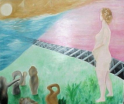 Meditation Painting by Lyn Ferlo