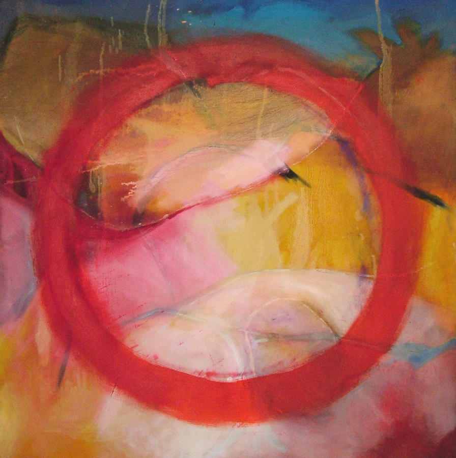 Abstract Oil Painting Painting - Meditation No 11 by Zangmo Alexander