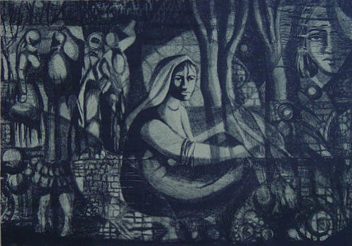 Arab Digital Art - Meditation by Ousama Lazkani