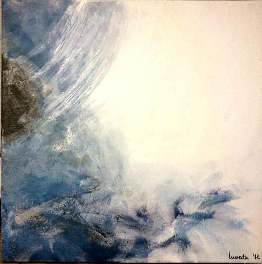 Sea Painting - Mediterranea Sea by Montserrat Lopez Ortiz