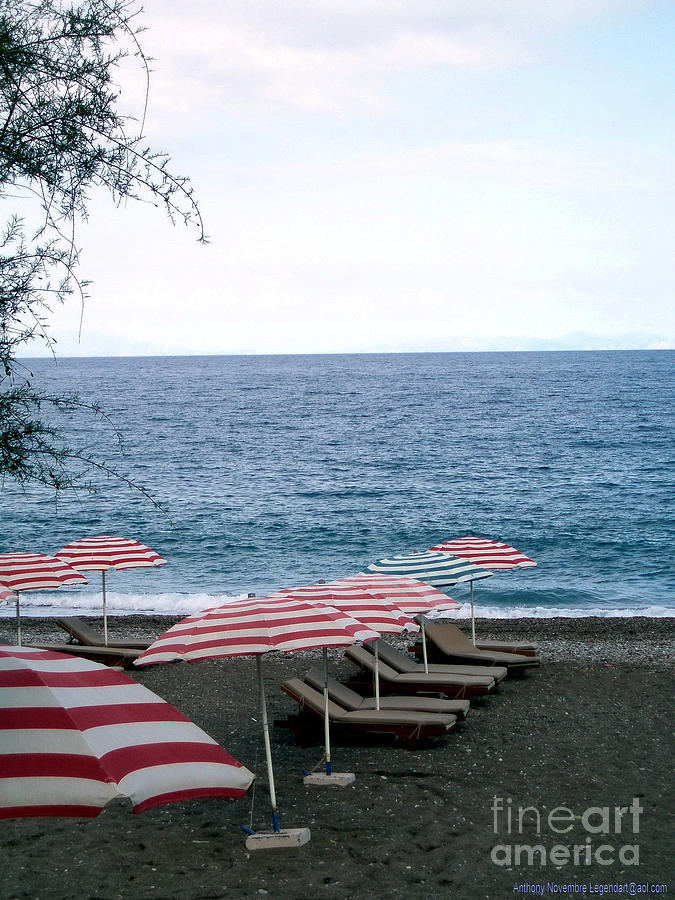 Beach Photograph - Mediterranean Beach Time  by Anthony Novembre