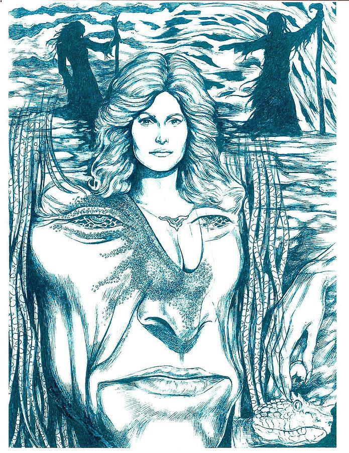 Medusa Drawing - Medusa Lament by Jamie Jonas