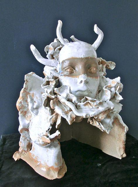 Medusa Ceramic Art by Roger Leighton