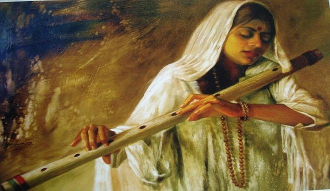Meera Bai Prem Deewani Painting By Mokshika