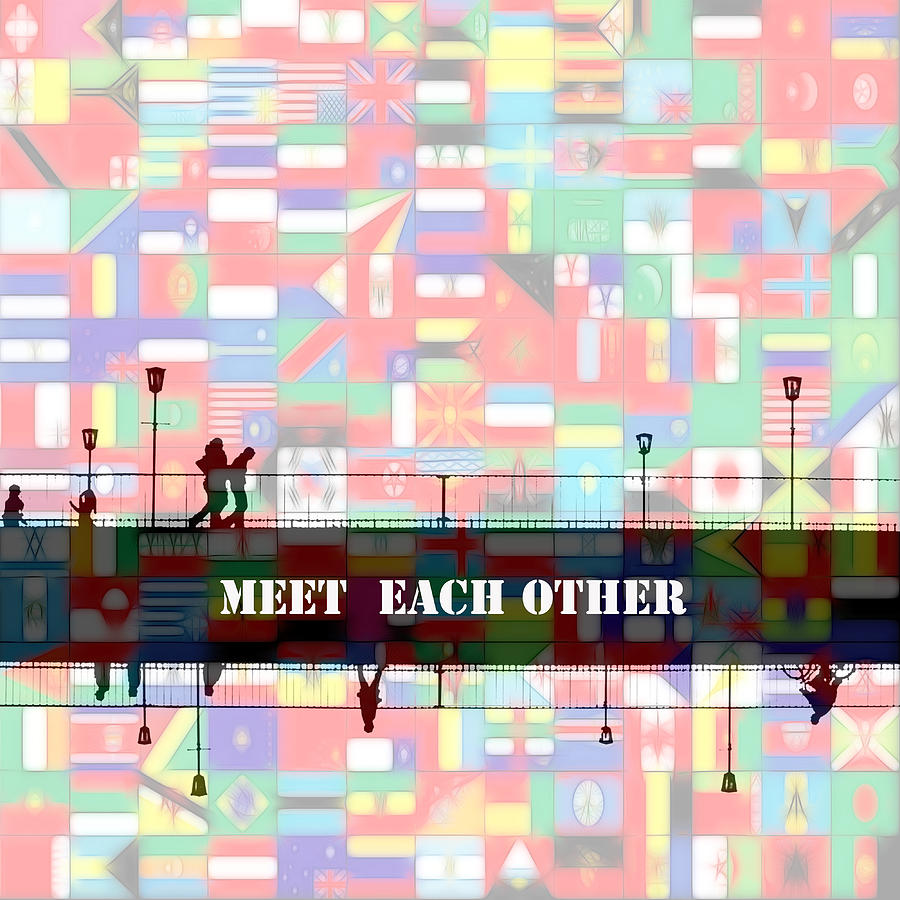 Meet Each Other Painting by Steve K