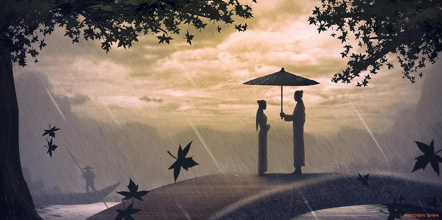 Hiroshi Painting - Meet by Hiroshi Shih