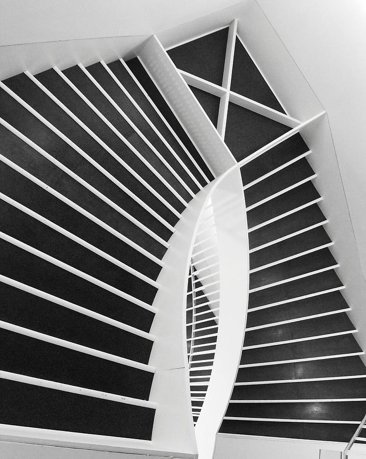 Stairs Photograph - Meet Me Under The Stairs by Anna Villarreal Garbis