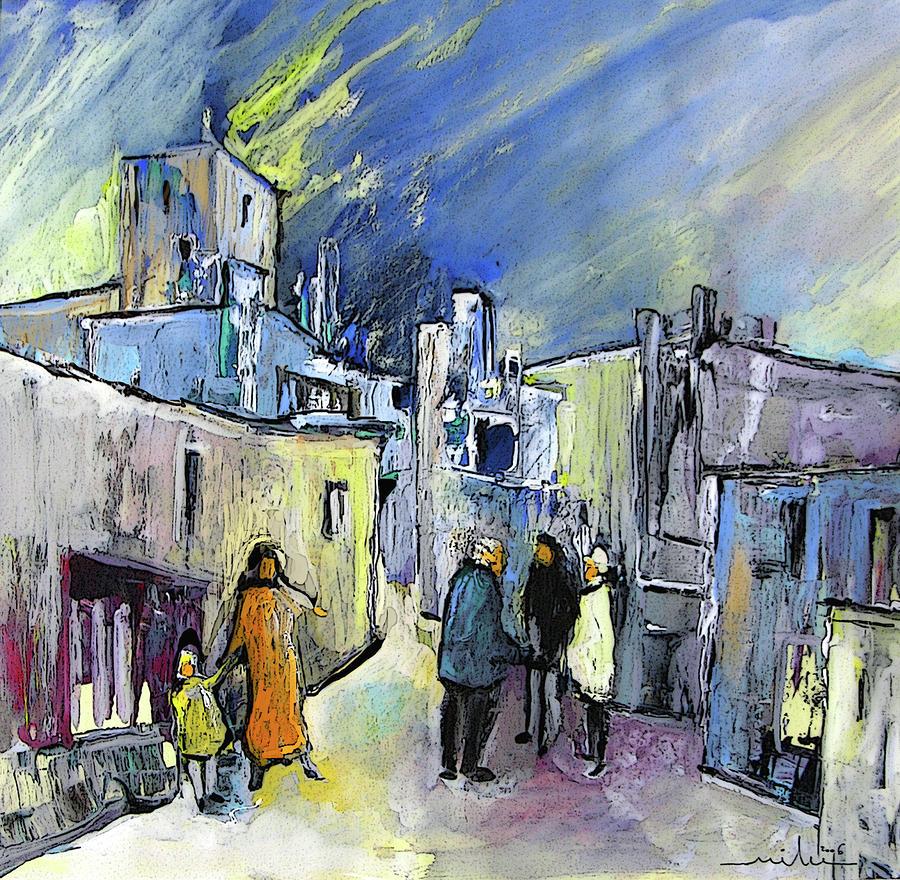 Meeting In Altea In Spain Painting By Miki De Goodaboom