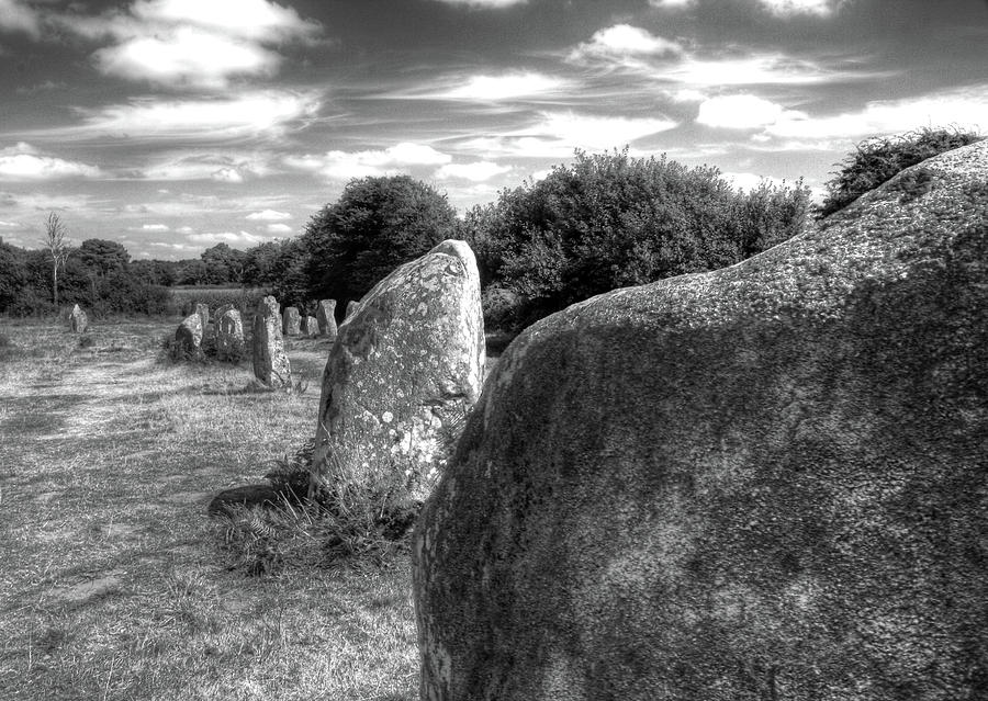 Horizontal Photograph - Megalithes In Carnac by Philwebbphotography