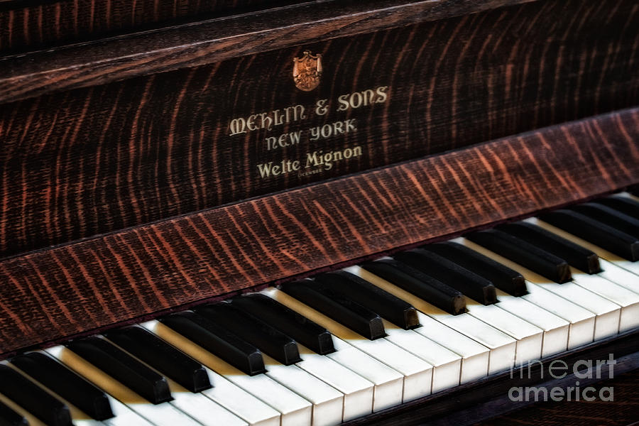 Grand Piano Photograph - Mehlin And Sons Piano by Susan Candelario