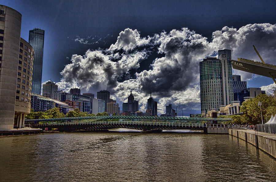 Melbourne Australia City Skyline Photograph By Douglas Barnard