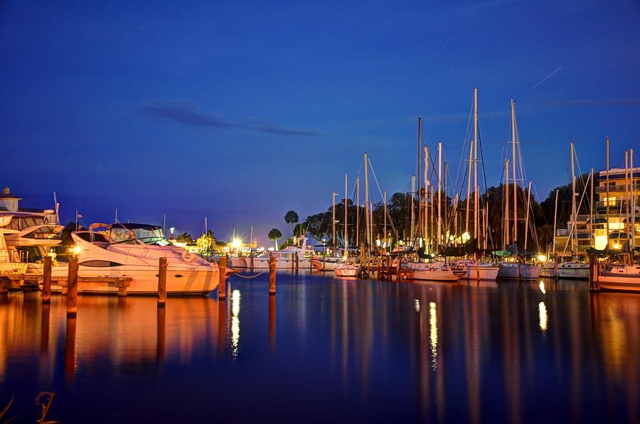 Sailboats Photograph - Melbourne Harbor by Lisa Goddard