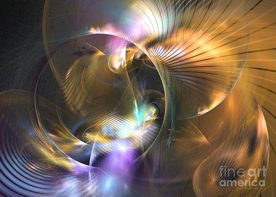 3-d Digital Art - Mellow - Abstract Digital Art by Sipo Liimatainen