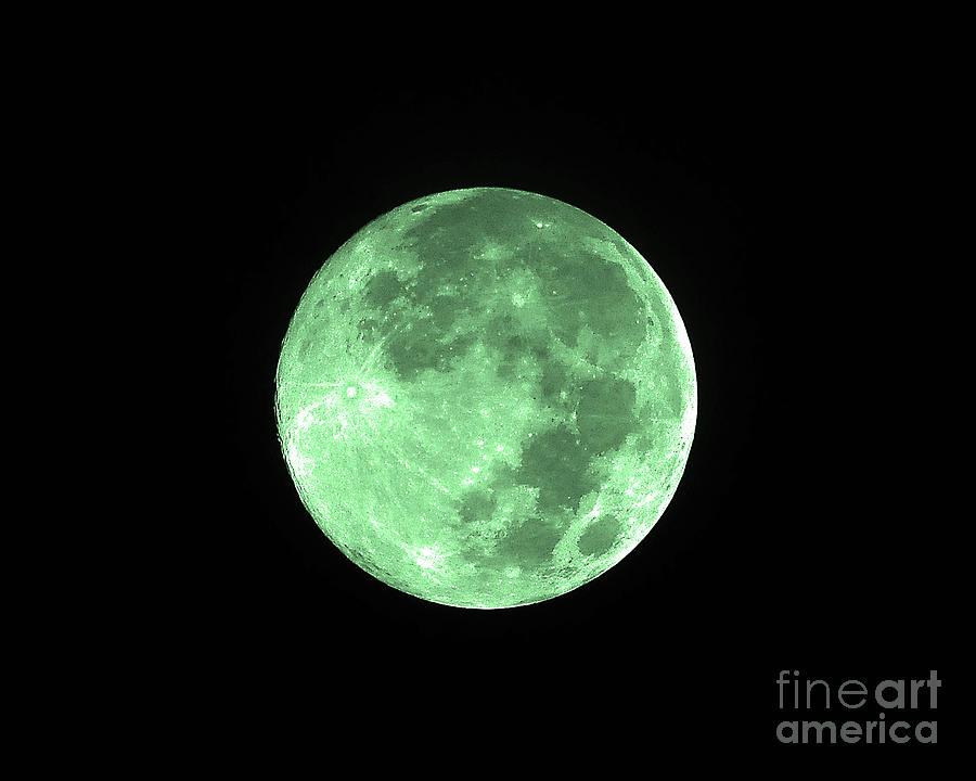 Moon Photograph - Melon Moon by Al Powell Photography USA