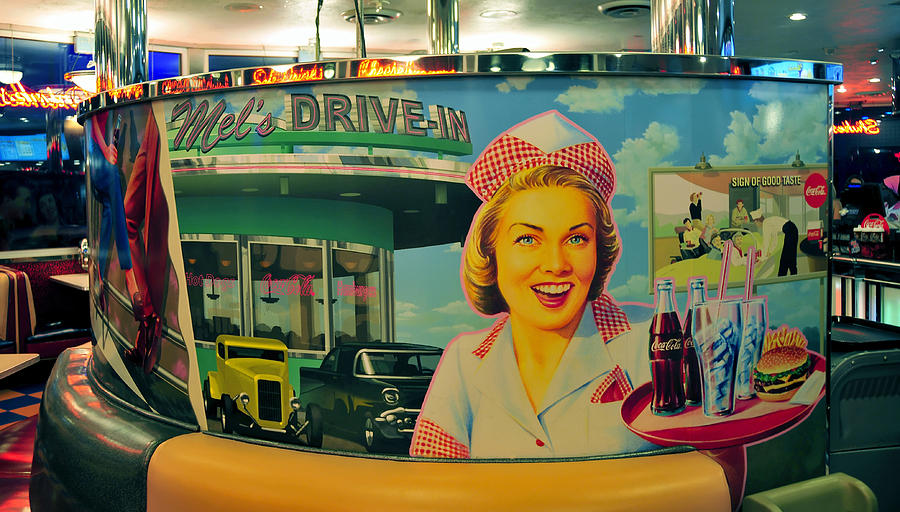 1950s Photograph - Mels Drive In by David Lee Thompson