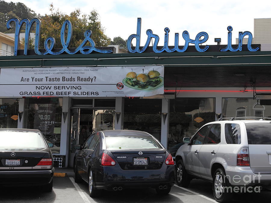 San Francisco Photograph - Mels Drive-in Diner In San Francisco - 5d18014 by Wingsdomain Art and Photography