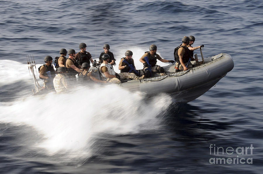 Operation Enduring Freedom Photograph - Members Of A Visit, Board, Search by Stocktrek Images