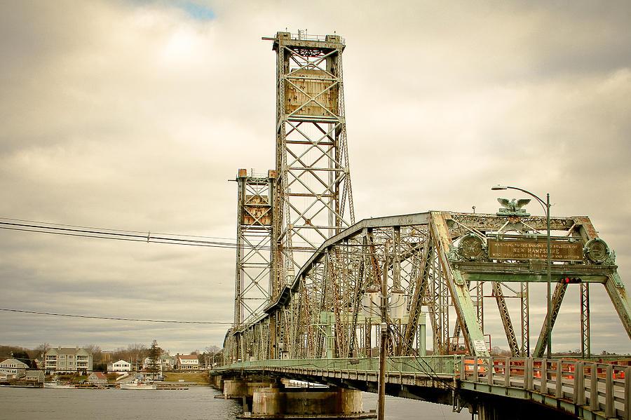 Bridge Photograph - Memorial Bridge Portsmouth Nh by Debbra Obertanec