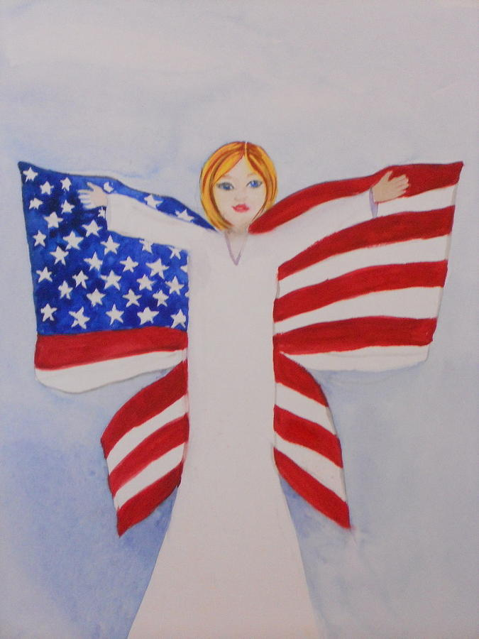 Butterfly People Painting - Memorial Day For Those Who Sacrificed by DJ Bates