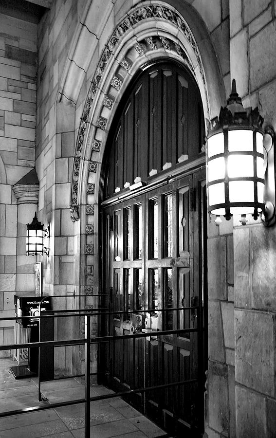 Architecture Photograph - Memorial Hall Entrance by Steven Ainsworth