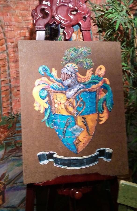Family Crest Painting - Memorial To Her Children by Nancy Rutland