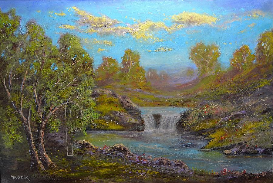 Landscape Painting - Memories From The Past by Michael Mrozik