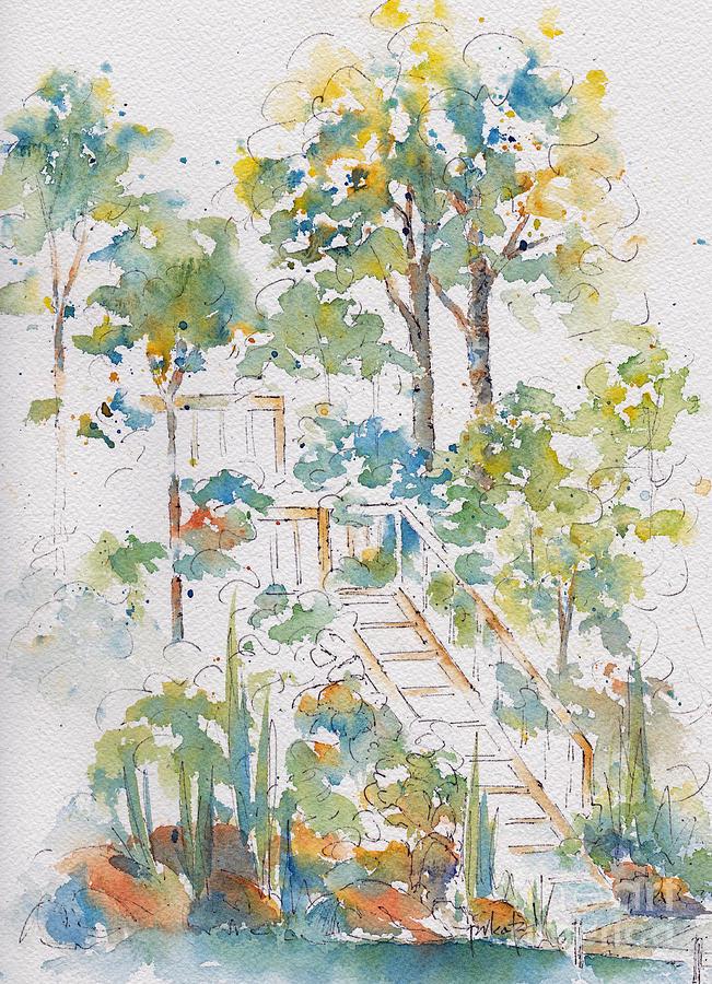 Impressionism Painting - Memories Lucien Lake by Pat Katz
