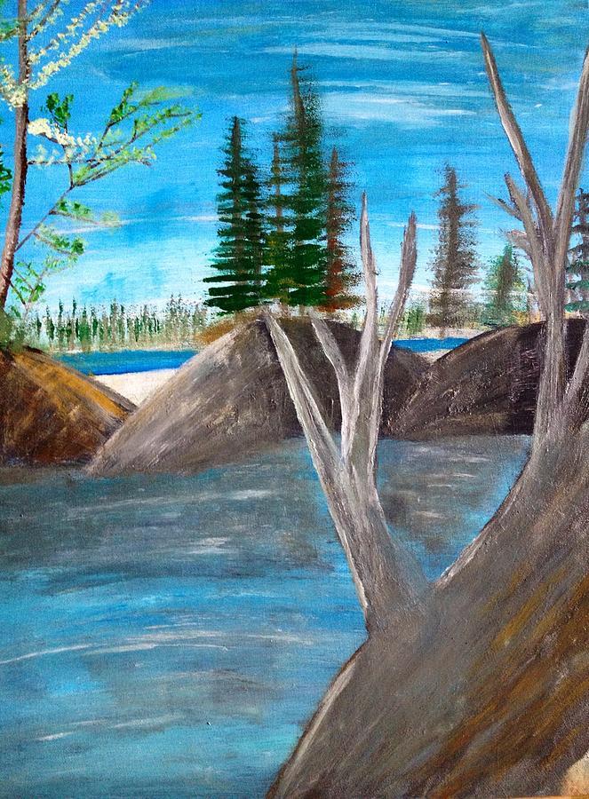 Landscape Painting - Memories Of Summer by Paula Brown