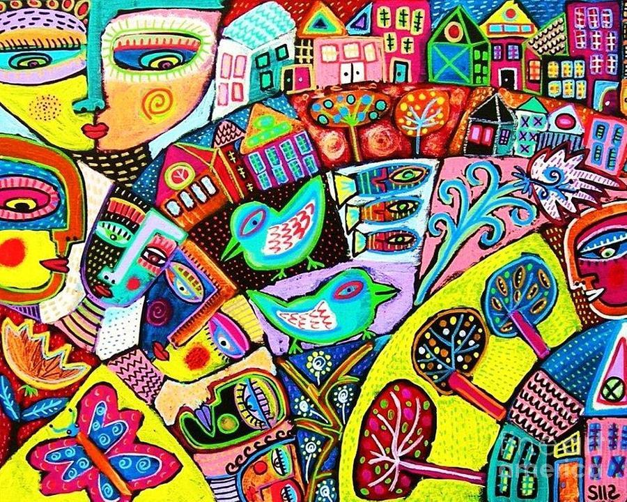 Women Painting - Memory Journey by Sandra Silberzweig