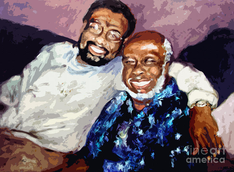 Music Painting - Memphis Soul Music William Bell And Rufus Thomas by Ginette Callaway