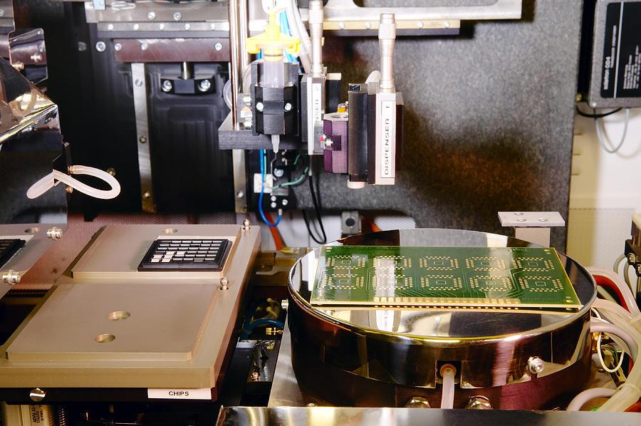 Machine Photograph - Mems Production, Flip Chip Bonding by Colin Cuthbert