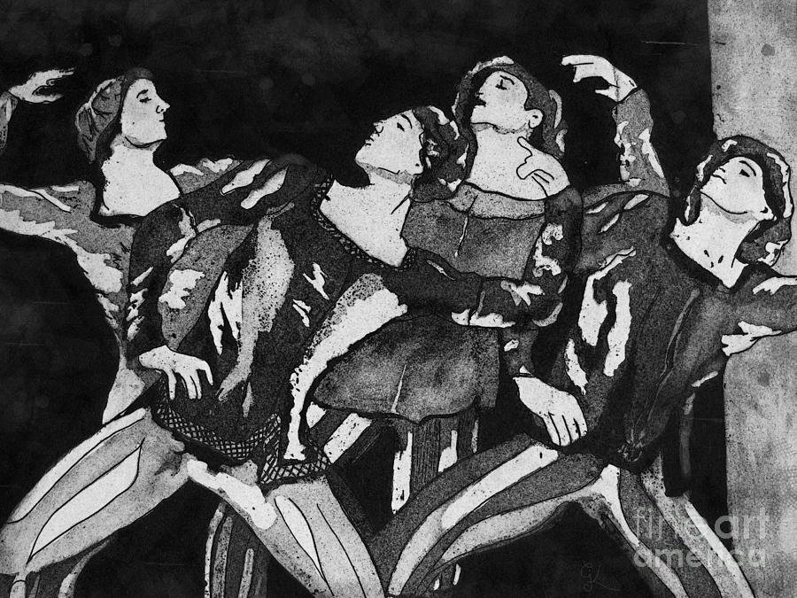 Men In Tights Mixed Media by Colleen Kammerer