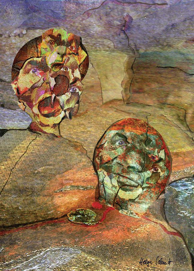 Surreal Digital Art - Mental Work by Helga Schmitt