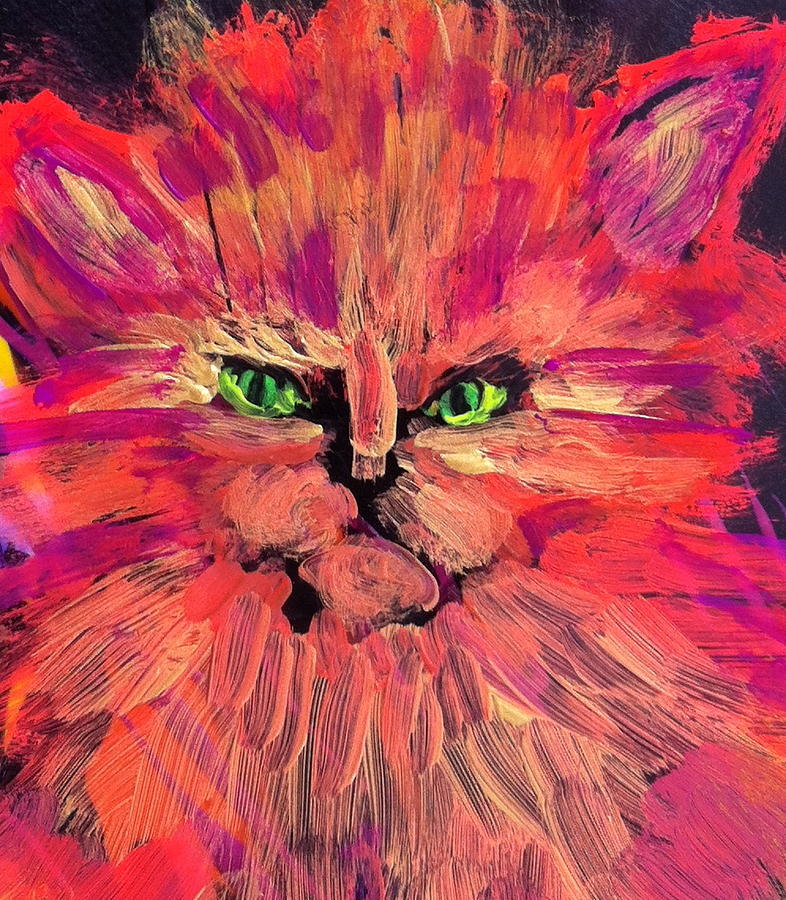 Cat Painting - Meow by Gail Eisenfeld