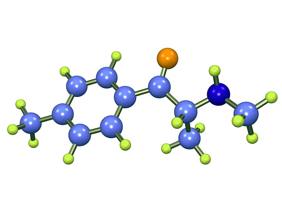 Mephedrone Photograph - Mephedrone Molecule by Dr Mark J. Winter
