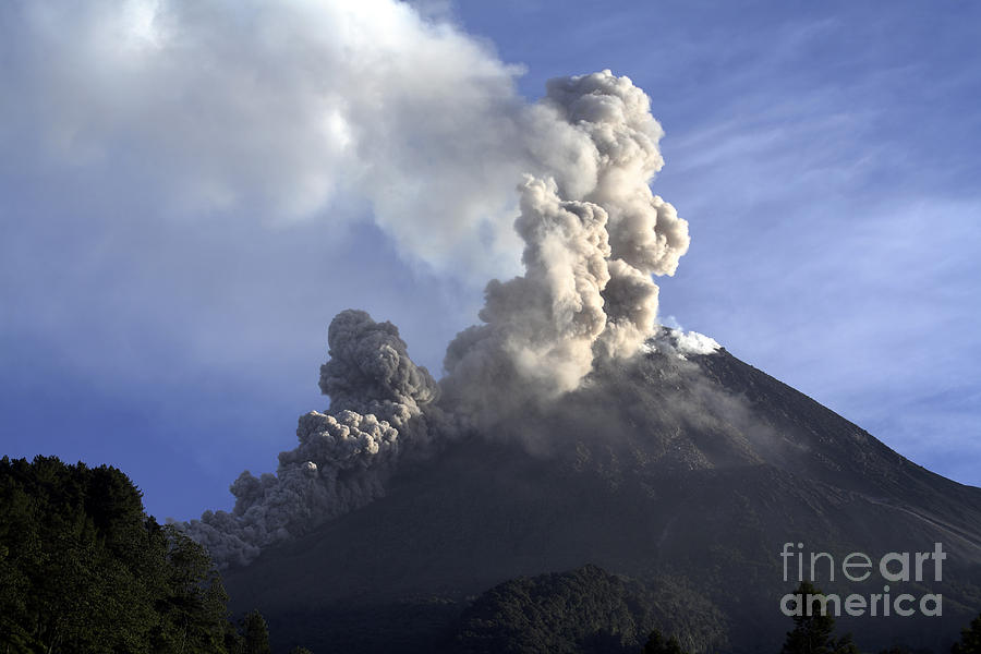 No People Photograph - Merapi Eruption, Java Island, Indonesia by Martin Rietze