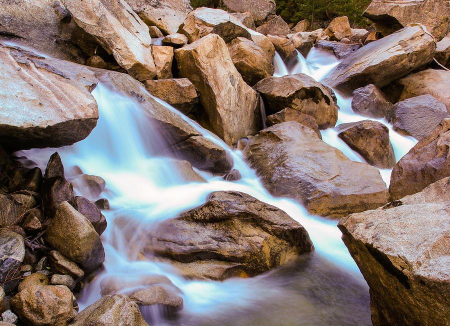 Water Photograph - Merced Cascades by Adam Pender