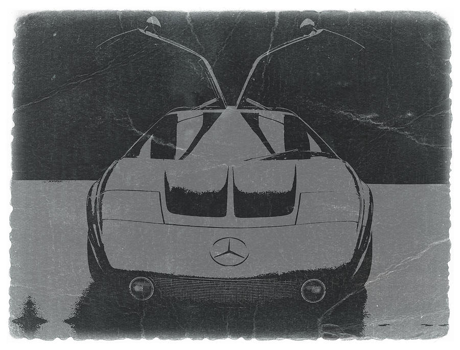 Vintage Car Photograph - Mercedes Benz C IIi Concept by Naxart Studio