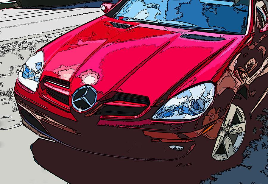 Mercedes Photograph - Mercedes Benz Slk Nose Study by Samuel Sheats