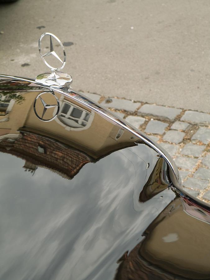 Old Photograph - Mercedes Logo by Odon Czintos
