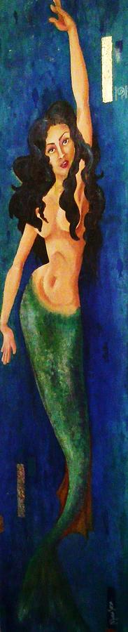 Underwater Painting - Mermaid Reach by Abraham Gonzales
