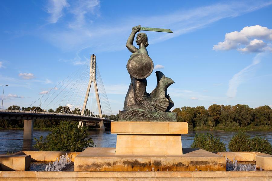 Warsaw Photograph - Mermaid Statue by Artur Bogacki